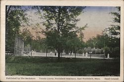 Tennis Courts, Northfield Seminary Postcard