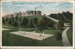 Western State Normal School, Showing Incline and Cable Car Postcard