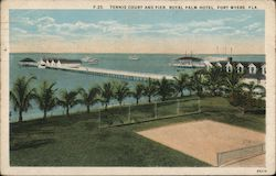 Tennis Court and Pier, Royal Palm Hotel