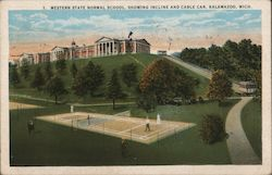 Western State Normal School showing Incline and Cable Car Postcard