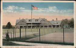 Vesper Country Club Front and Tennis Court Postcard
