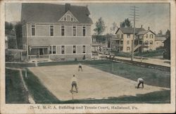 YMCA Building and Tennis Court