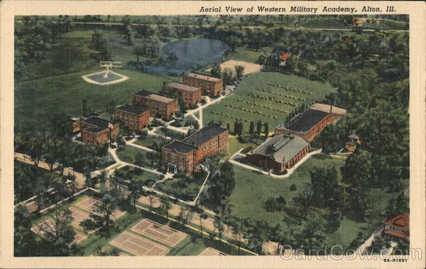 Aerial View of Western Military Academy Alton Illinois