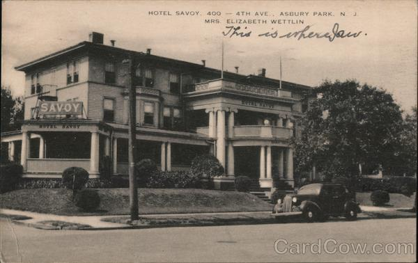 Hotel Savoy, 400 4th Avenue Asbury Park New Jersey