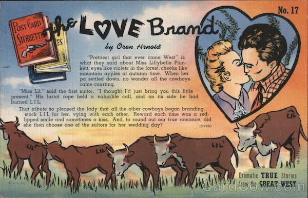 The Love Brand - Post Card Storiette No. 17 by Oren Arnold