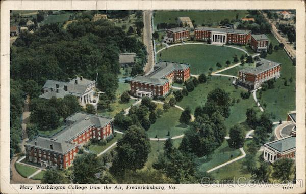 Mary Washington College from the Air Fredericksburg Virginia