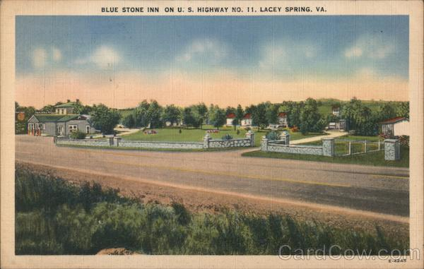 Blue Stone Inn on U.S. Highway No. 11 Lacey Spring Virginia