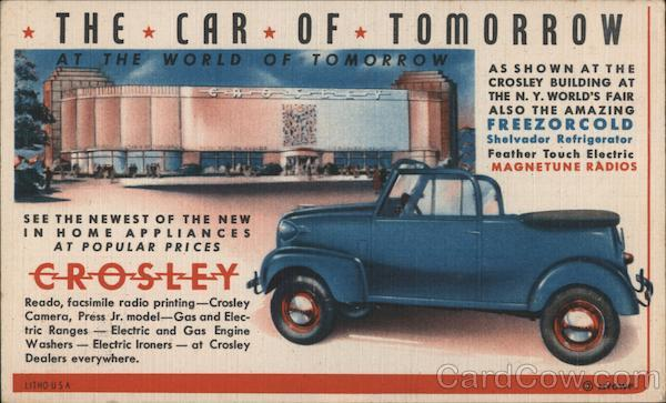 Crosley at the World of Tomorrow 1939 NY World's Fair