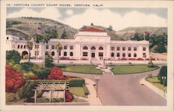 Ventura County Court House Postcard