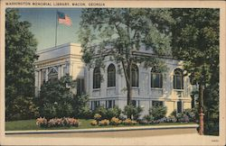 Washington Memorial Library Postcard