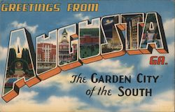 Greetings from Augusta, GA., The Garden City of the South Postcard