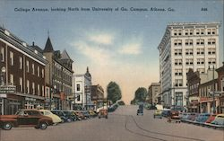 College Avenue, Looking North From University of Ga. Campus