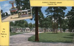 Cadle's Tourist Court Postcard