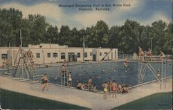 Municipal Swimming Pool in Bob Noble Park Postcard