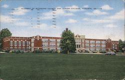 Academy of Richmond County and Junior College Postcard