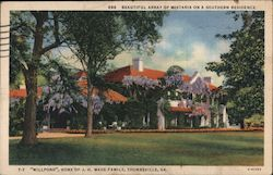 """Millpond"", Home of J.H. Wade Family Postcard"