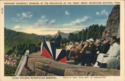 President Roosevelt Speaking at the Dedication of the Great Smoky Mountains National Park