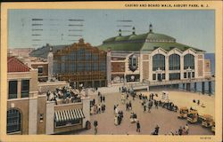 Casino and Board Walk Postcard