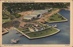 Miami Terminal of Pan-American Airways Postcard