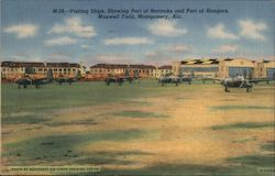 Visitng Ships, Showing Part of Barracks and Part of Hangars, Maxwell Field