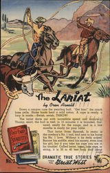 Dramatic True Stories from the Great West: The Lariat, by Oren Arnold Postcard