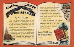 Gun Feud to the Last Man, Post Card Storiette No. 12 by Oren Arnold. Postcard