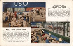 Servicemen's Canteen and USO Lounge Postcard