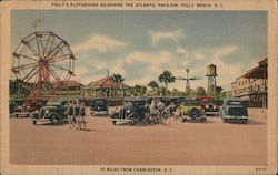 Folly's Playground Adjoining the Atlantic Pavilion Postcard