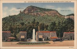 Entrance to Chimney Rock, Western North Carolina