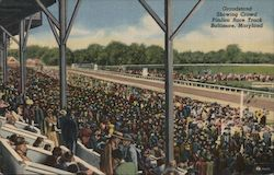 Grandstand Showing Crowd, Pimlico Race Track