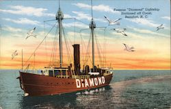 "Famous ""Diamond"" Lightship Stationed Off Coast"