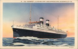 "Steamer ""Shawnee"", Clyde-Mallory Liner Approaching"