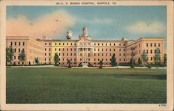 US Marine Hospital Postcard