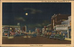 Hay Street at Night, Home of Fort Bragg