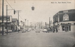 Looking Along Main Street Postcard