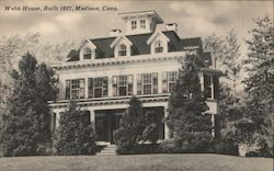 Webb House, Built 1827 Postcard