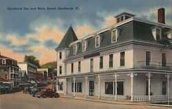 Hardwick Inn and Main Street Postcard