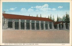 Union Pacific Dining Room Postcard
