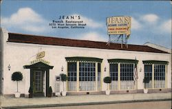 Jean's French Restaurant Postcard