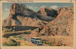 El Capitan, Highest Peak in Texas Postcard