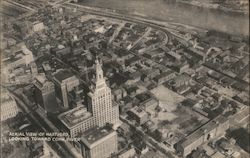 Aerial View of Hartford, Looking Toward Conn, River