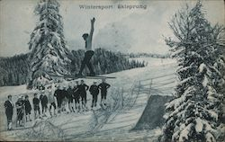 Wintersport: Skisprung Postcard