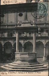 Naples - Charterhouse of St. Martin - The Well Postcard