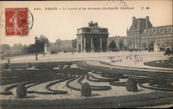 The Louvre and Carrousel Garden Postcard