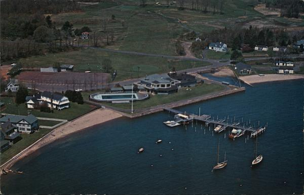 Aerial View Pine Orchard Club - Yacht Club, Tennis and Golf Facilities Branford Connecticut
