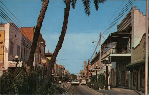 View of East Seventh Avenue Ybor City Florida