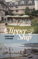Clipper Ship Motor Lodge Postcard