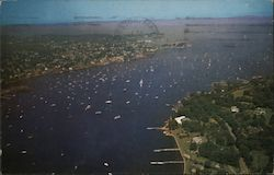 Aerial View of Marblehead, Mass. The Yachting Capitol of the World Postcard