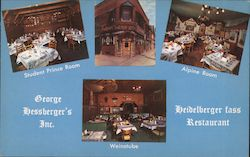 George Hessberger's Inc.: Heildeberger Fass Restaurant Postcard