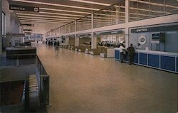 O'Hare International Airport, Section of Terminal Interior Showing Baggage Pick Up Area